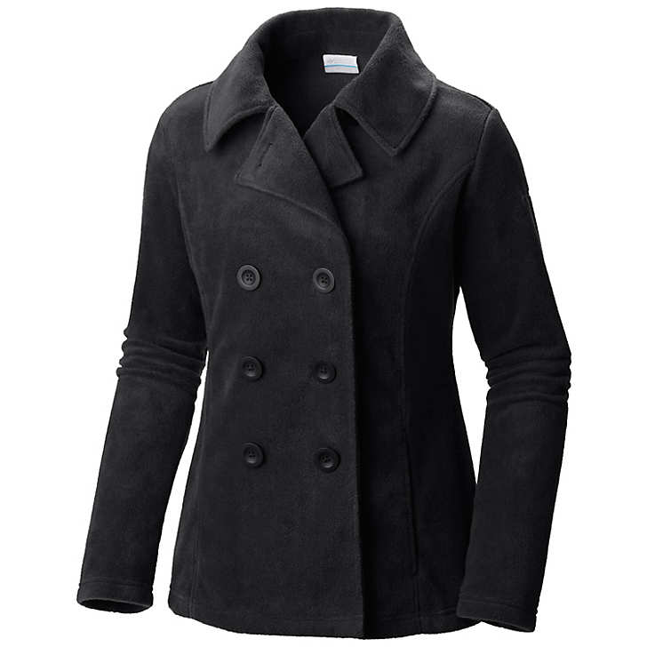 Columbia Benton Springs™ Fleece Pea Coat Bayan Mont Siyah (73198VDXS)