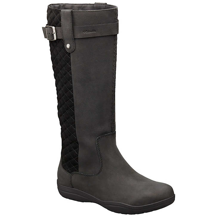 Columbia Lisa™ Waterproof Deri Tall Bayan Çizme Siyah (88502WOLD)